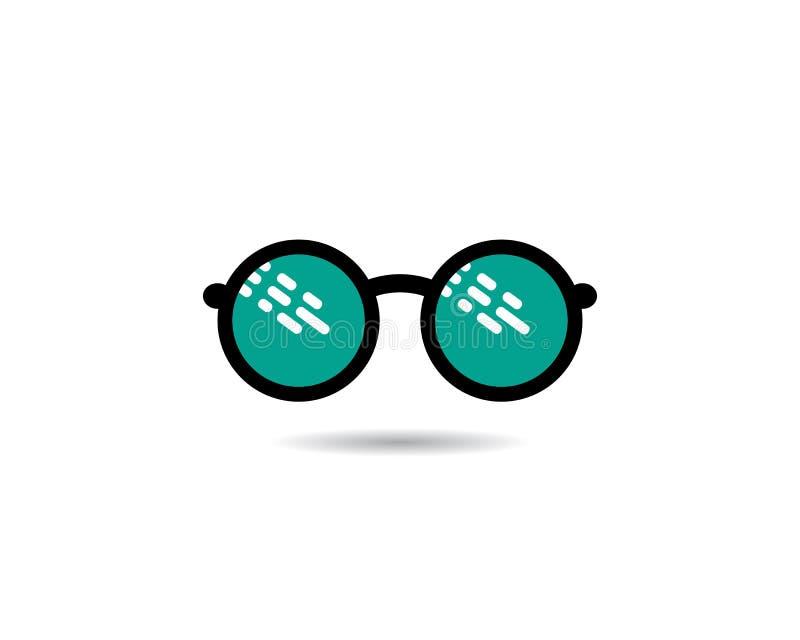 Vetor do projeto do logotipo dos vidros ilustração stock