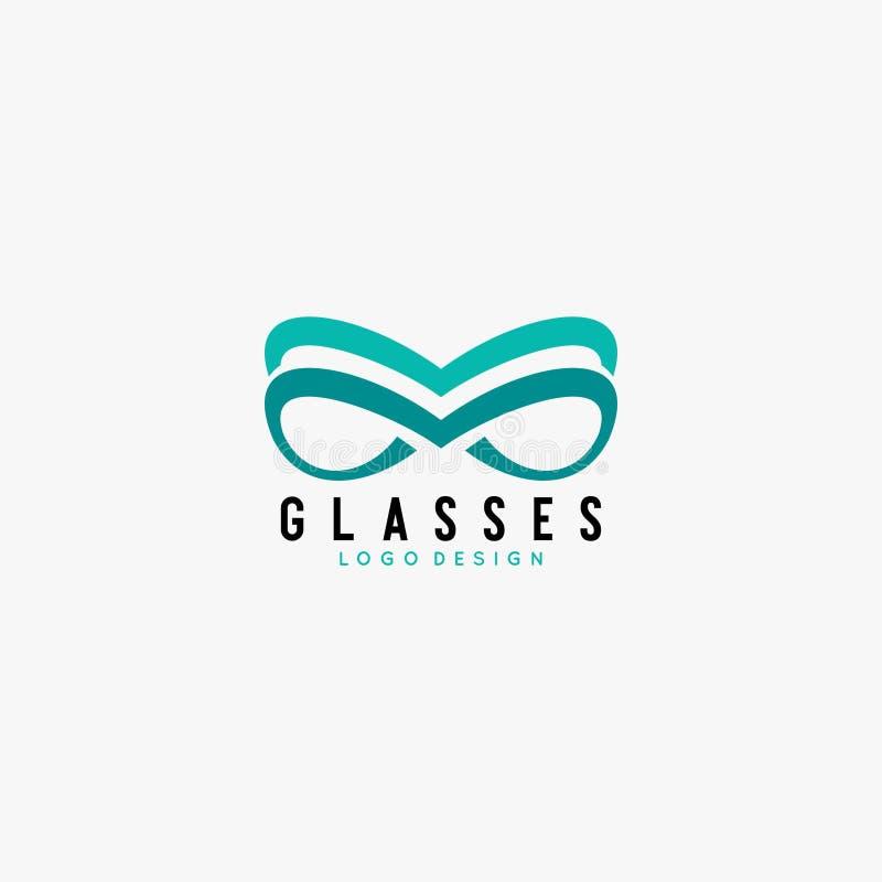 Vetor do projeto do logotipo dos vidros imagem de stock royalty free