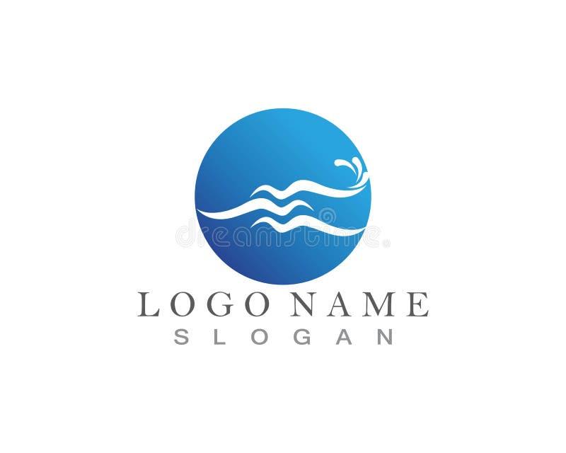 Vetor do projeto do logotipo do respingo da onda de água ilustração stock