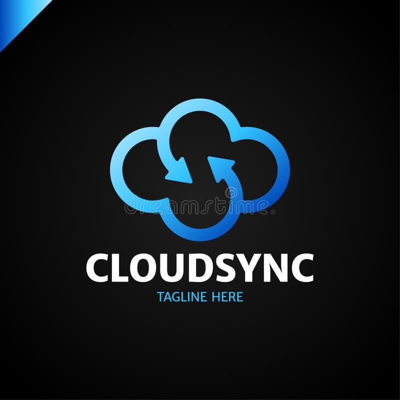 Vetor do projeto do logotype da nuvem da infinidade Molde do ícone da letra s da nuvem ilustração do vetor