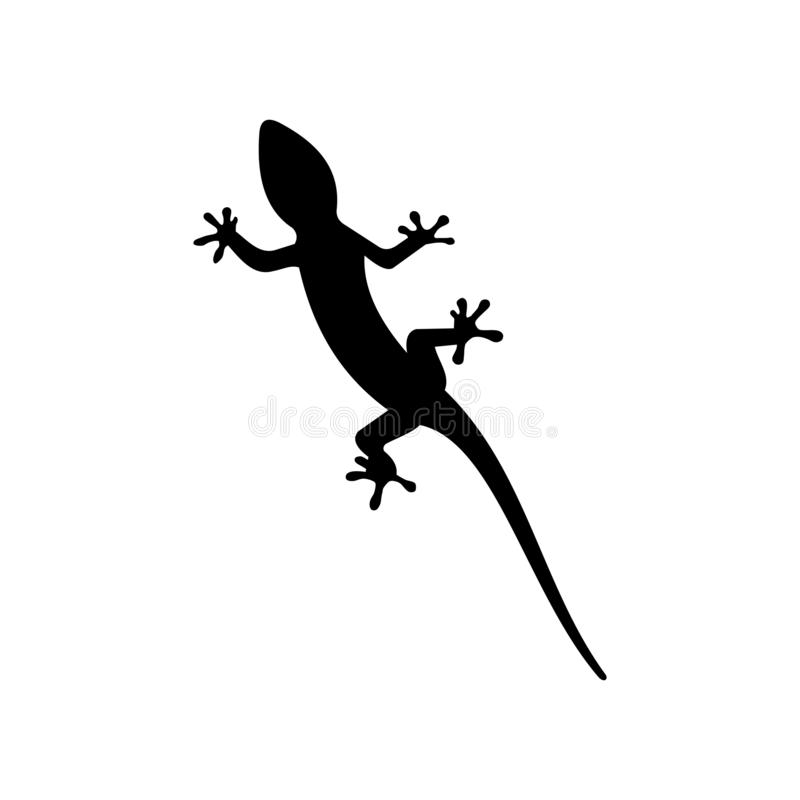 vetor do projeto do molde do logotipo do lagarto, ícone, animal ilustração do vetor
