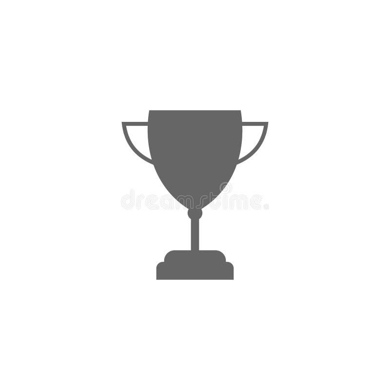 vetor do projeto do molde do logotipo do vencedor, ícone do campeão ilustração royalty free