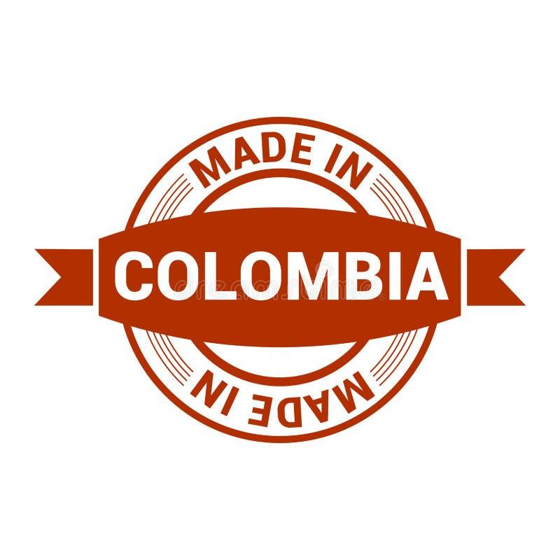 Vetor do projeto do selo de Colômbia ilustração stock