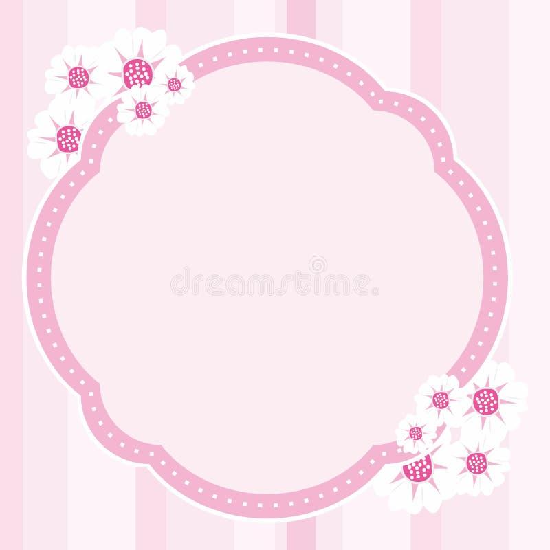 Vetor do quadro da flor ilustração royalty free