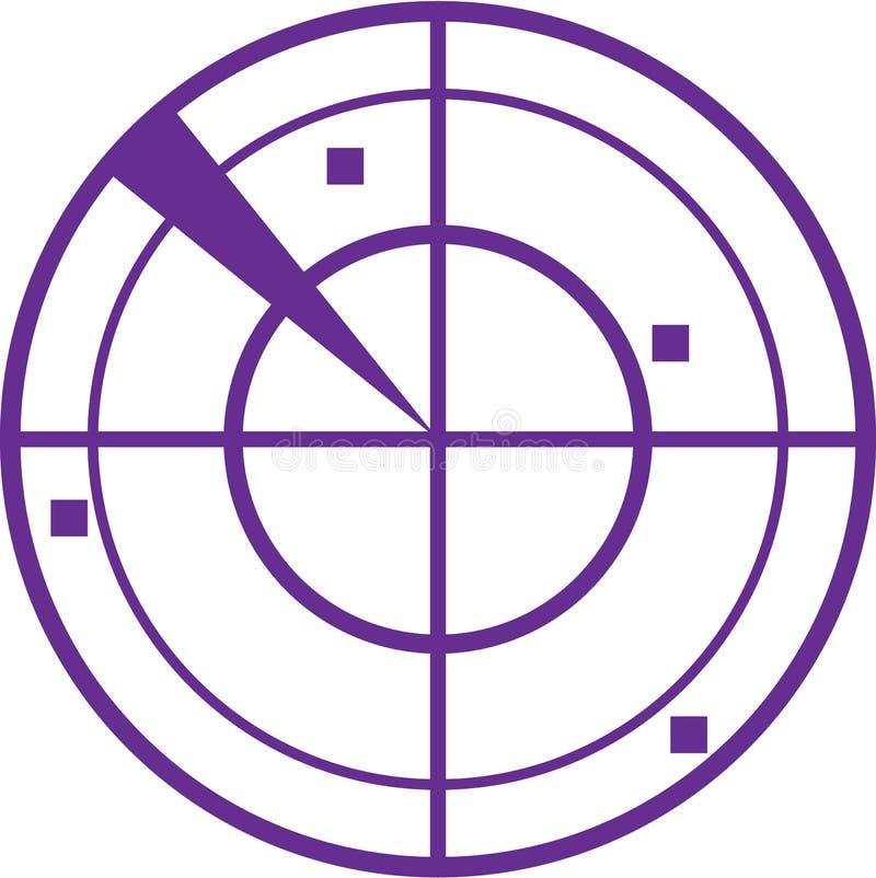 Vetor do radar ilustração stock