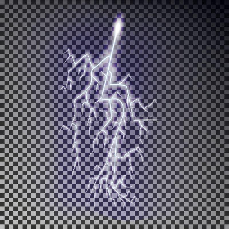 Vetor do relâmpago Efeito transparente do relâmpago ilustração do vetor
