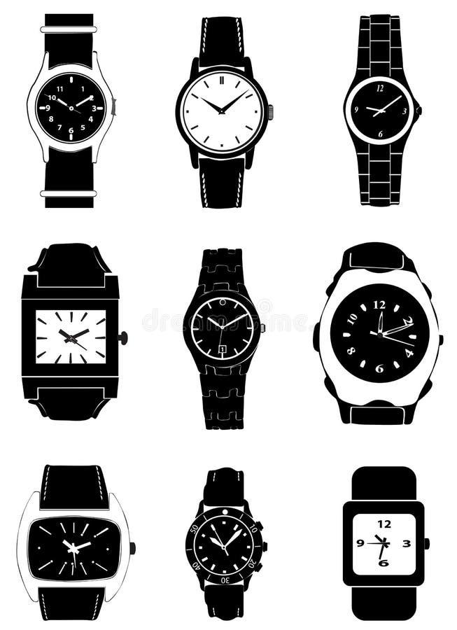 Vetor do relógio de forma ilustração stock