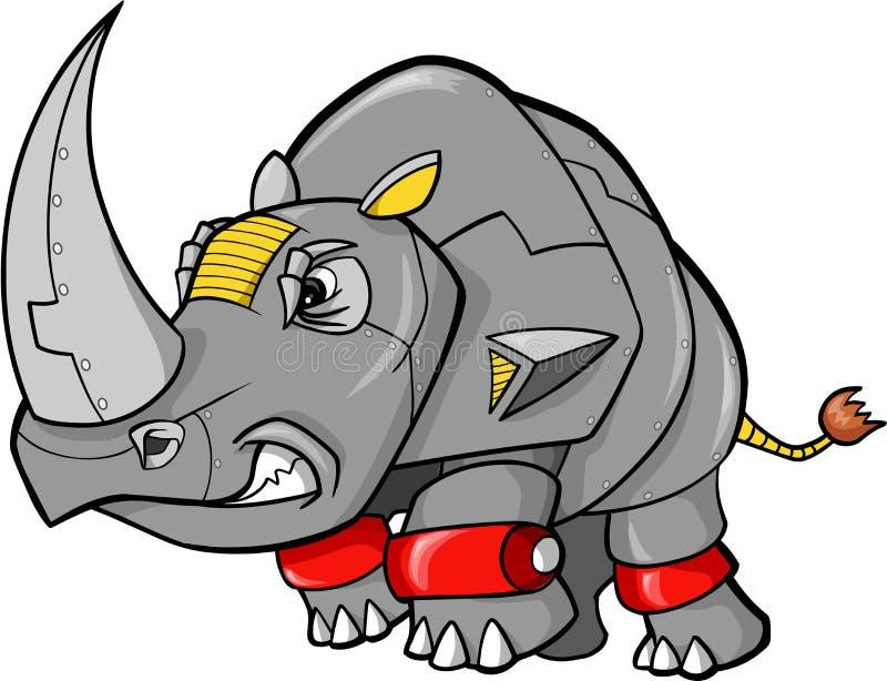 Vetor do rinoceronte do robô ilustração stock