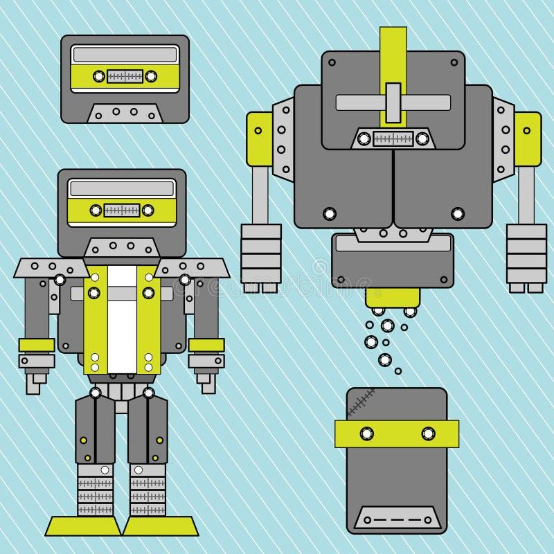 Vetor do robô da música ilustração royalty free