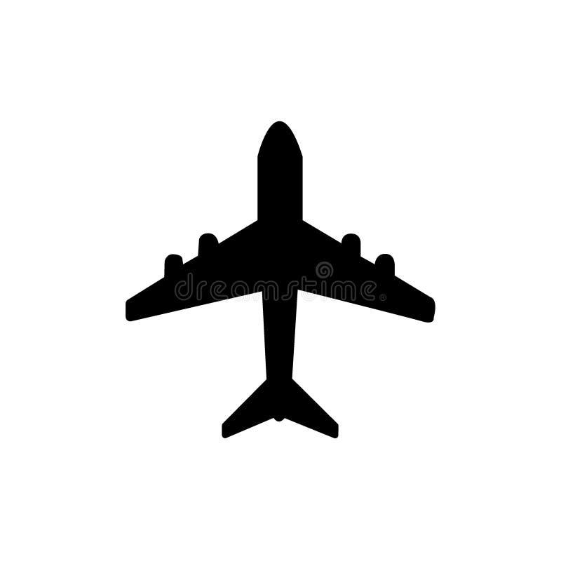 Vetor do símbolo do ícone do avião No fundo branco ilustração do vetor