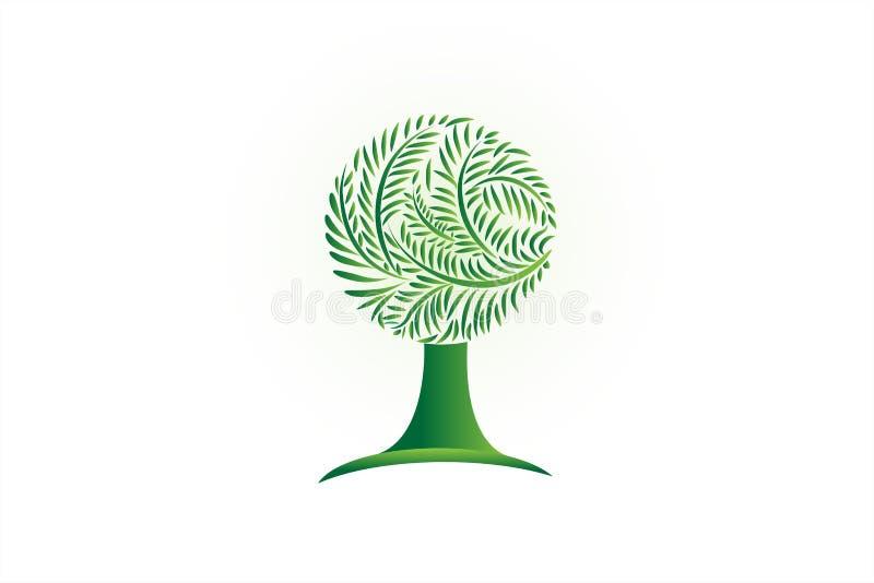 Vetor do símbolo da árvore da ecologia do logotipo ilustração royalty free