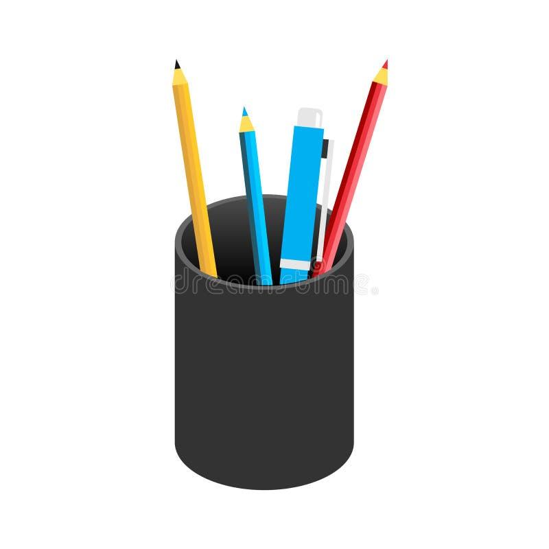 Vetor do símbolo do ícone da caixa de lápis ilustração royalty free