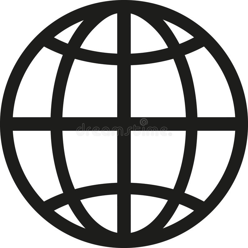 Vetor do símbolo do globo ilustração do vetor
