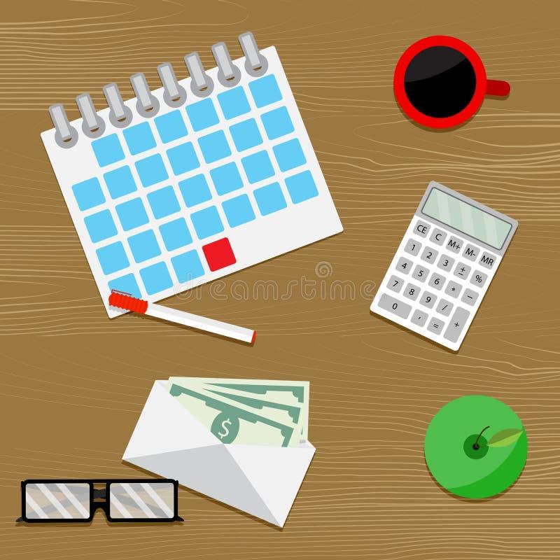 Vetor do salário dos dias de pagamento ilustração stock