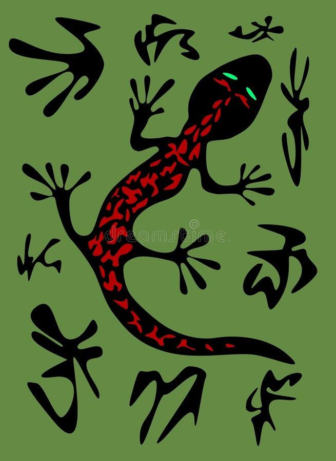 Vetor do Salamander ilustração do vetor
