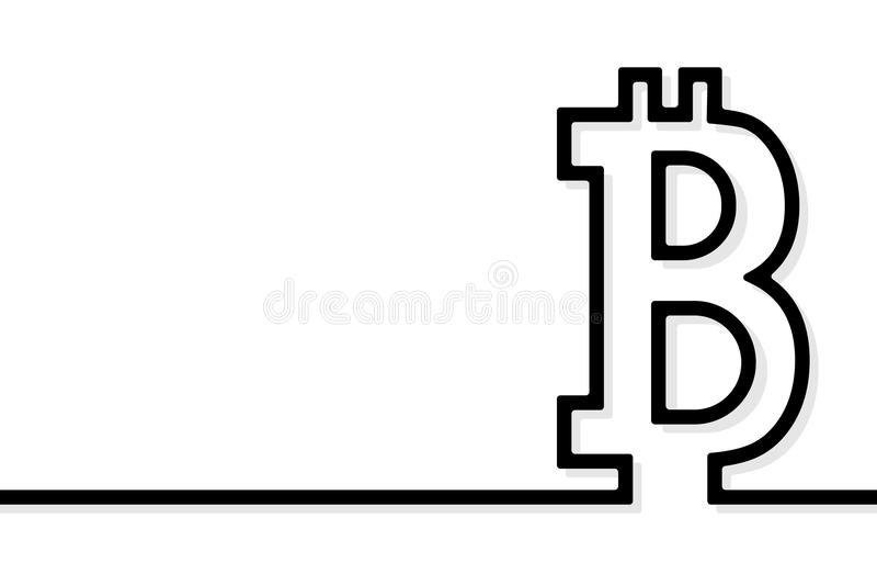 Vetor do sinal de Bitcoin ilustração stock