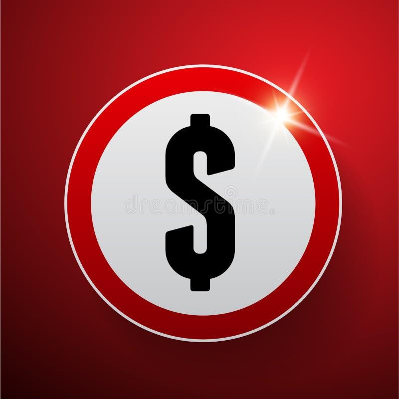 Vetor do sinal de dólar ilustração royalty free