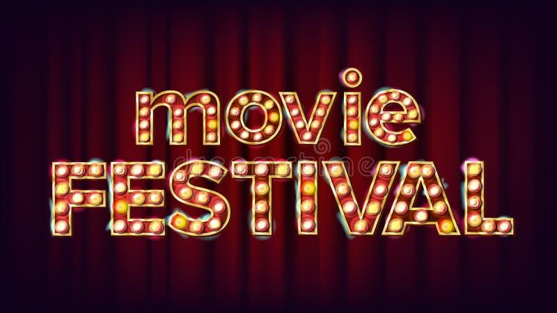 Vetor do sinal do festival do filme o r Ilustração moderna ilustração royalty free