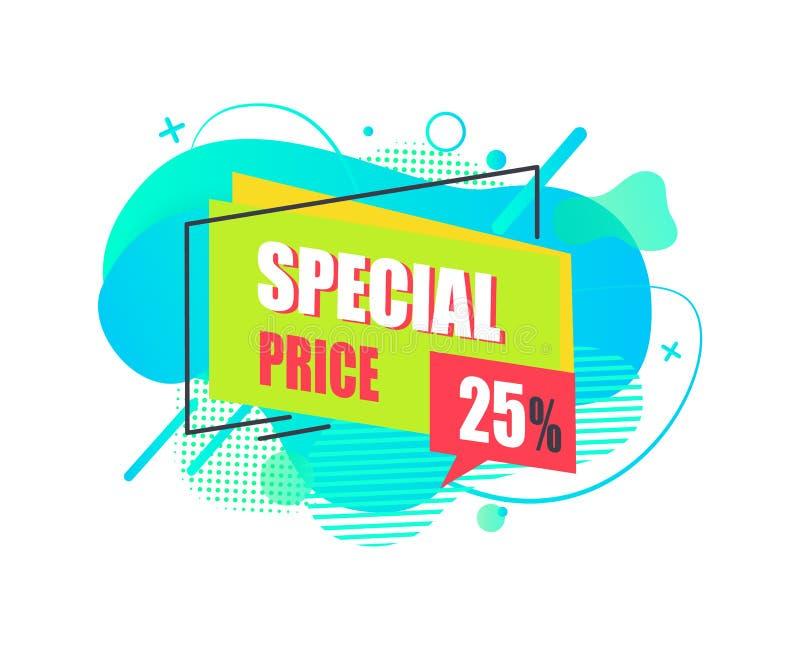 Vetor do sumário da etiqueta da oferta da venda do preço especial ilustração royalty free