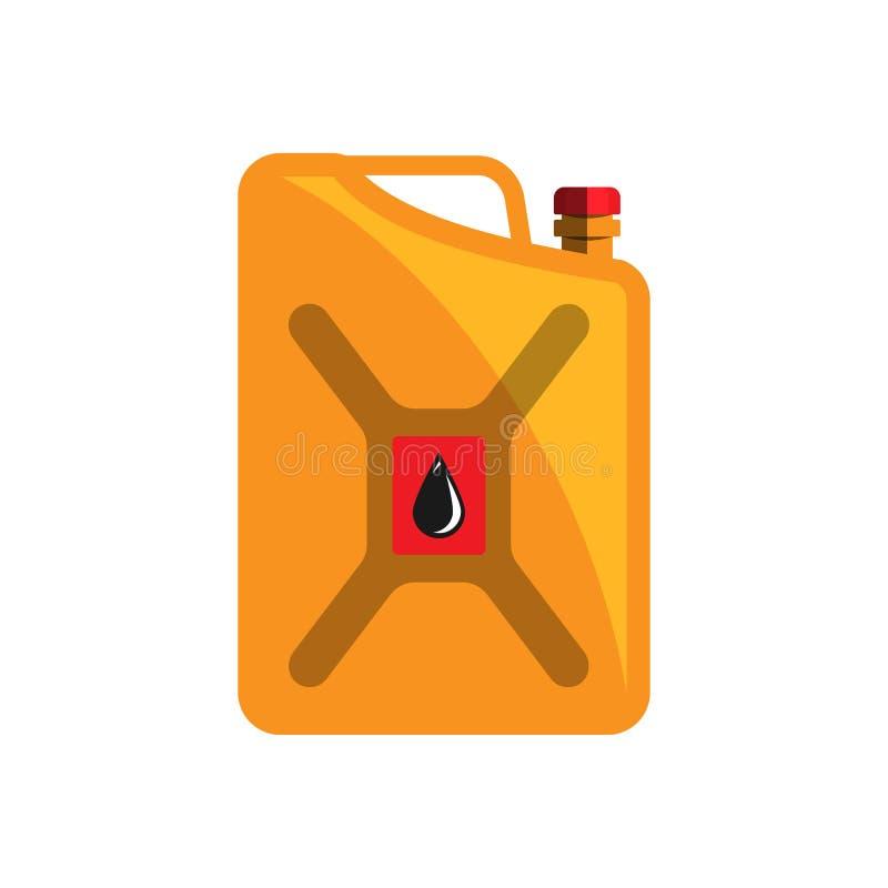 Vetor do tanque da capacidade do tambor de óleo ilustração do vetor