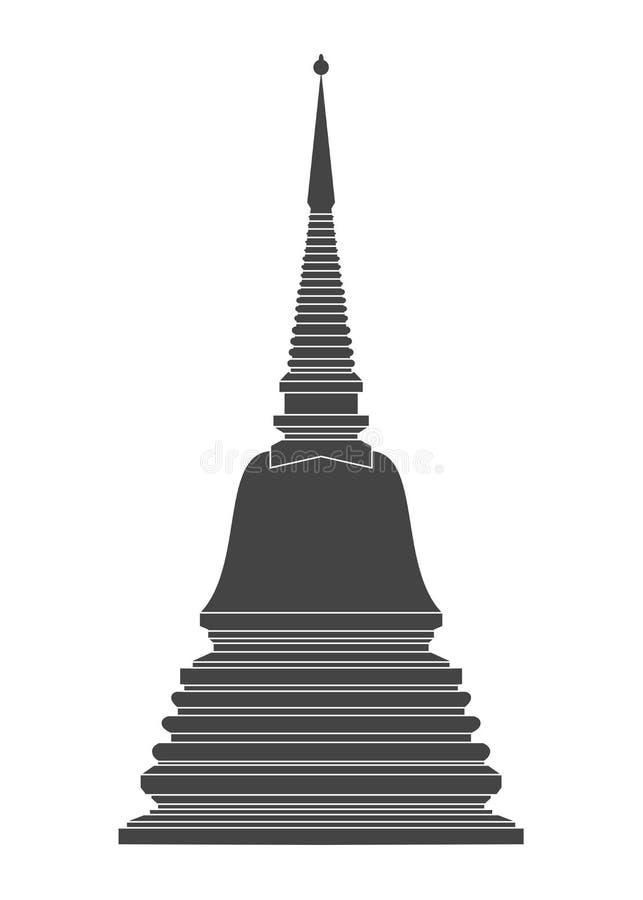 Vetor do templo de Tailândia ilustração stock