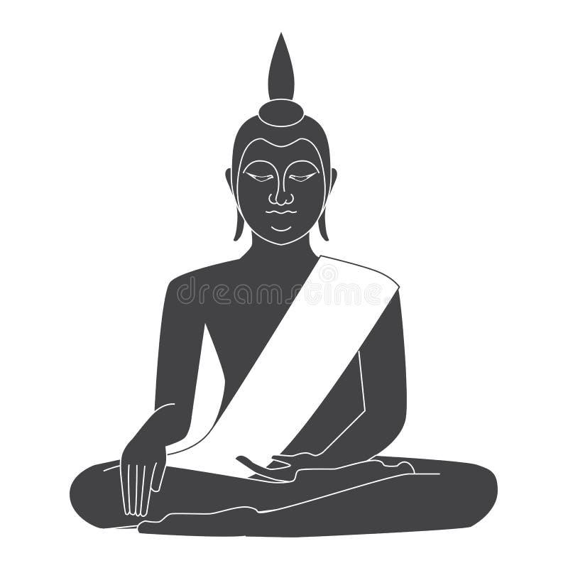 Vetor do templo de Tailândia ilustração royalty free