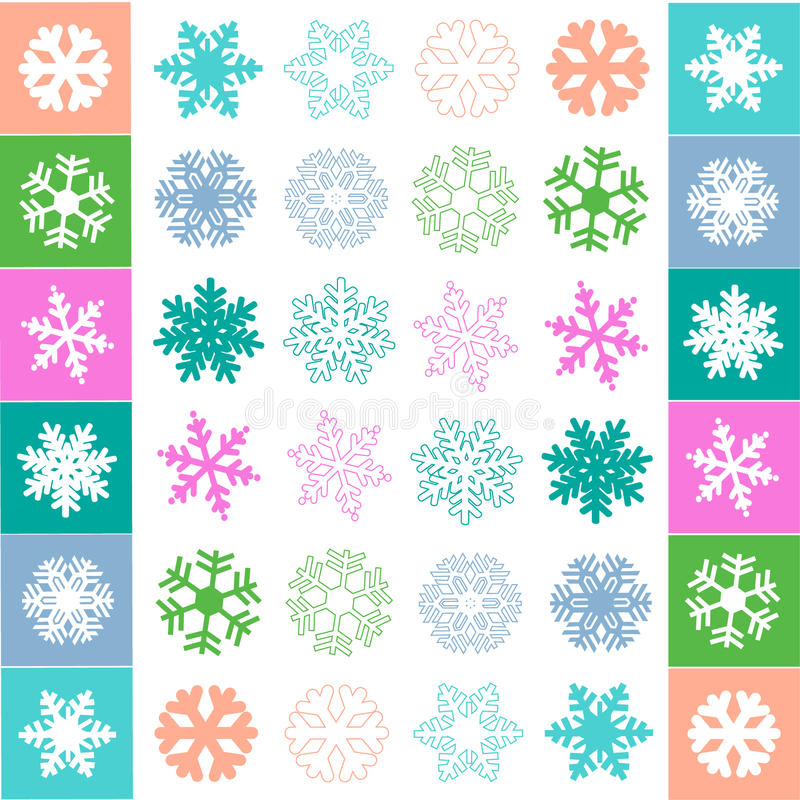 Vetor do teste padrão do floco da neve ilustração do vetor