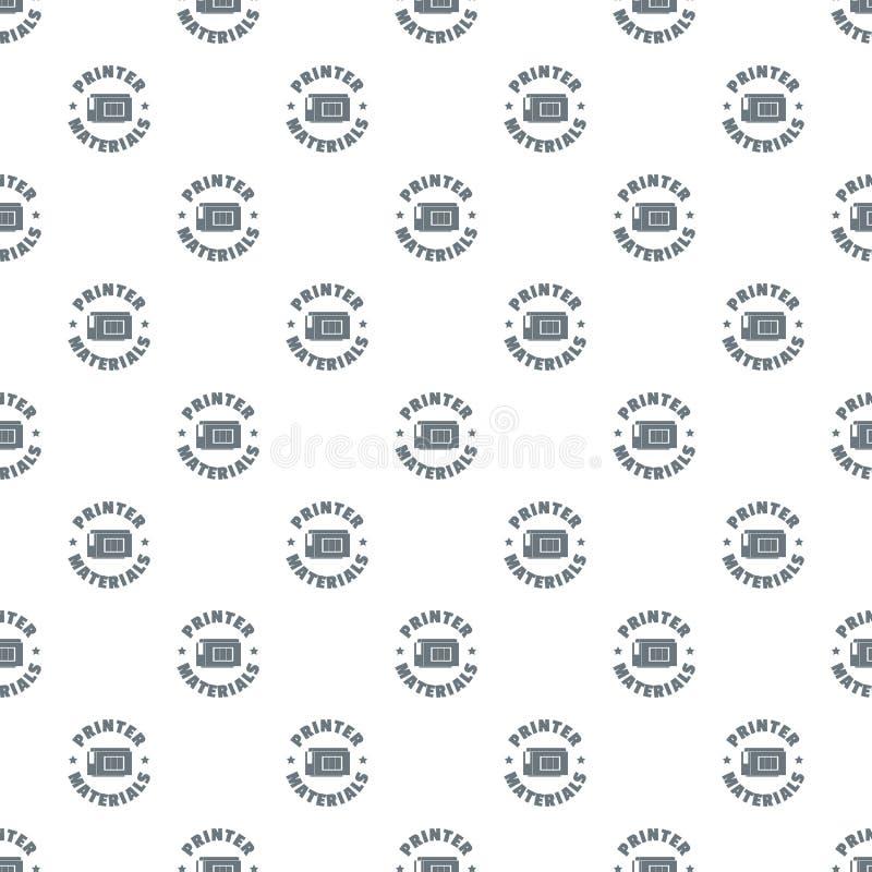 Vetor do teste padrão dos materiais da impressora sem emenda ilustração do vetor