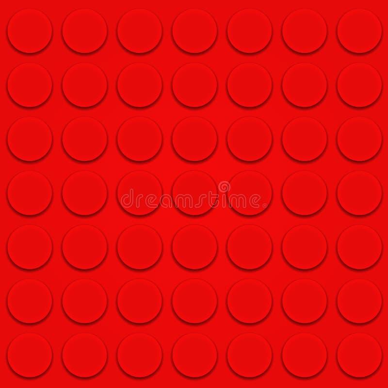 Vetor do tijolo de Lego ilustração royalty free