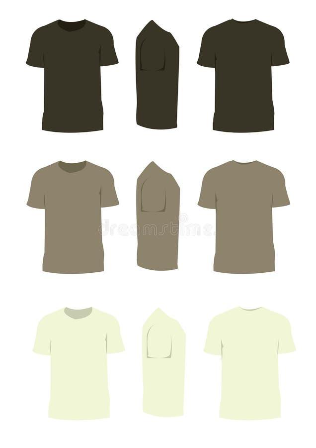 Vetor do tom do marrom da camisa de T com fundo branco ilustração royalty free