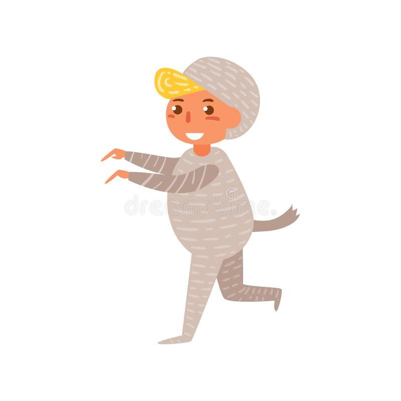 Vetor do traje de Dia das Bruxas da criança da mamã cartoon Arte isolada ilustração do vetor