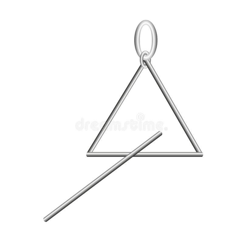 Vetor do triângulo do instrumento de música imagens de stock