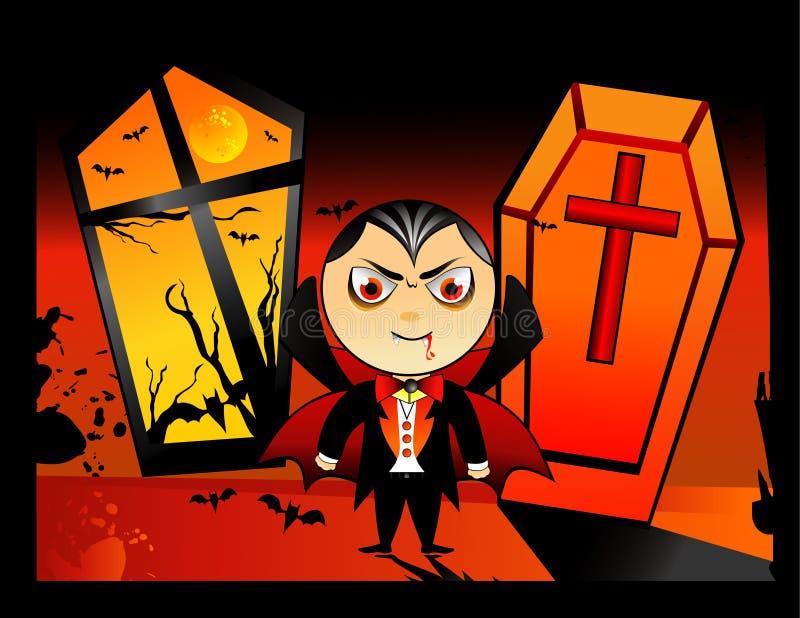 Vetor do vampiro de Halloween ilustração do vetor