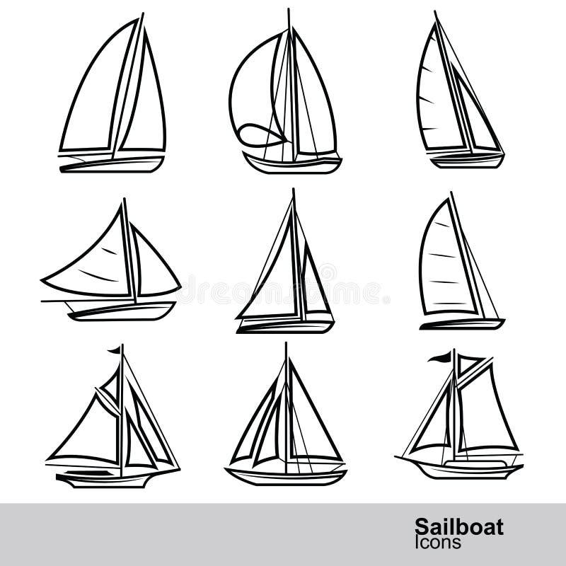 Vetor do veleiro ilustração stock