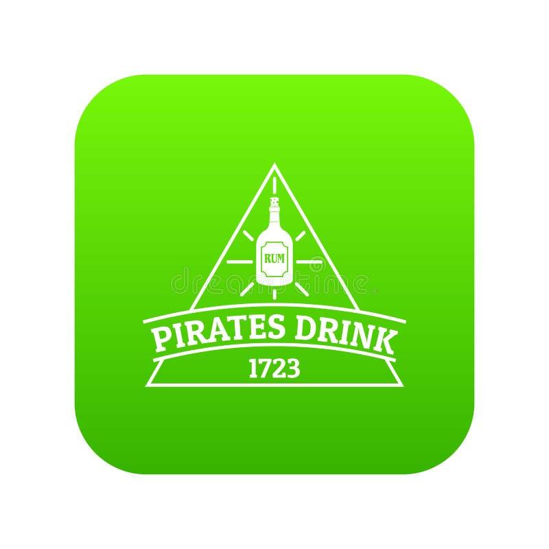Vetor do verde do ícone da bebida do pirata ilustração royalty free