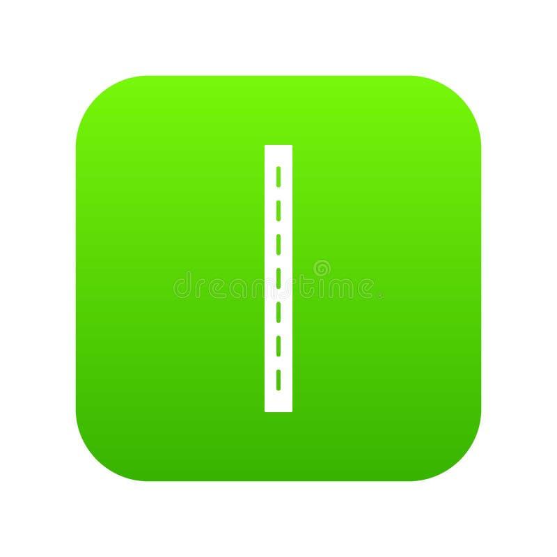 vetor do verde do ícone da estrada da Único-pista ilustração do vetor