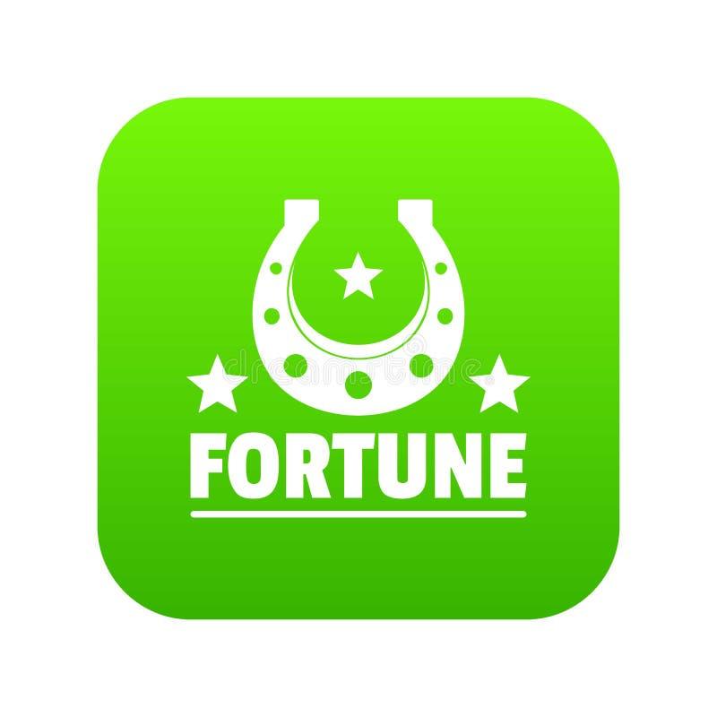 Vetor do verde do ícone da fortuna ilustração stock