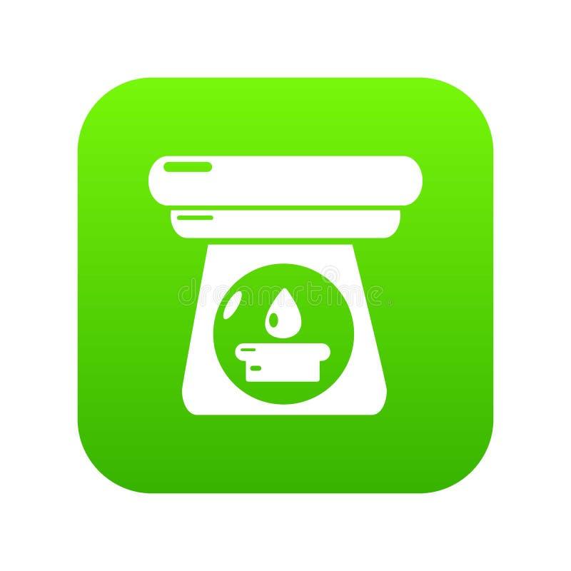 Vetor do verde do ícone da garrafa do aroma dos termas ilustração stock