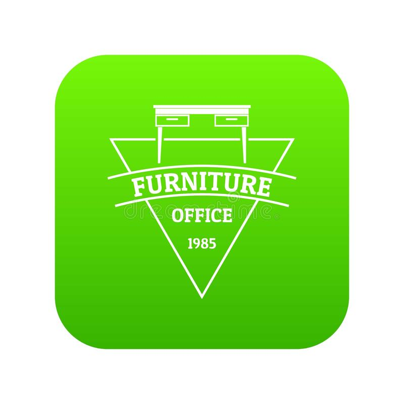 Vetor do verde do ícone da mobília ilustração royalty free