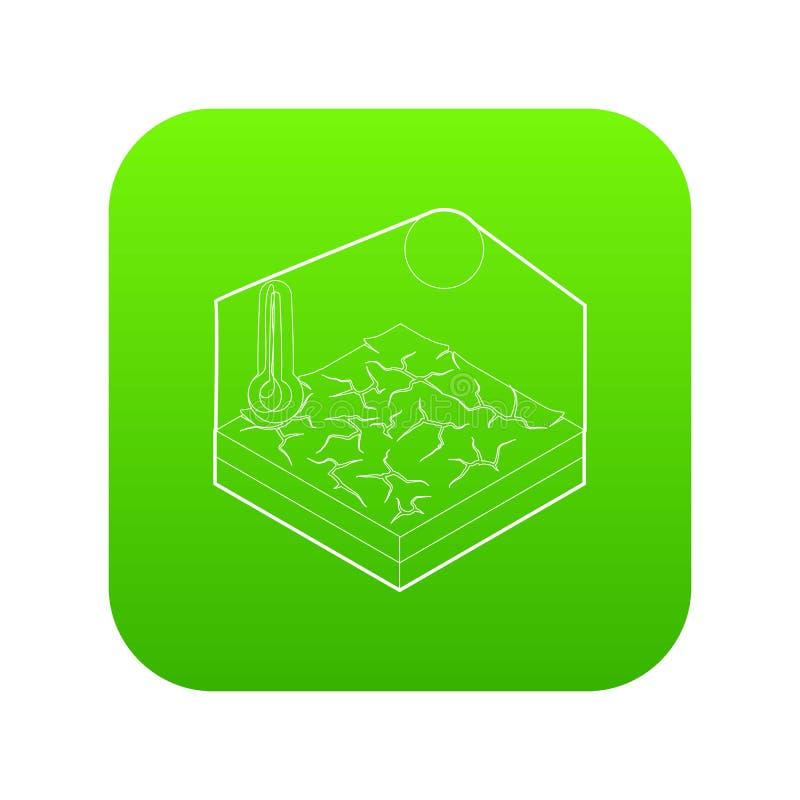 Vetor do verde do ícone da seca ilustração royalty free