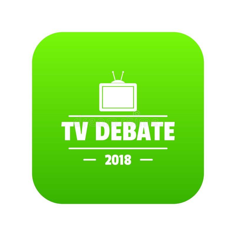 Vetor do verde do ícone do debate da tevê ilustração stock