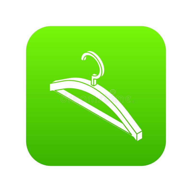 Vetor do verde do ícone do gancho de roupa ilustração stock