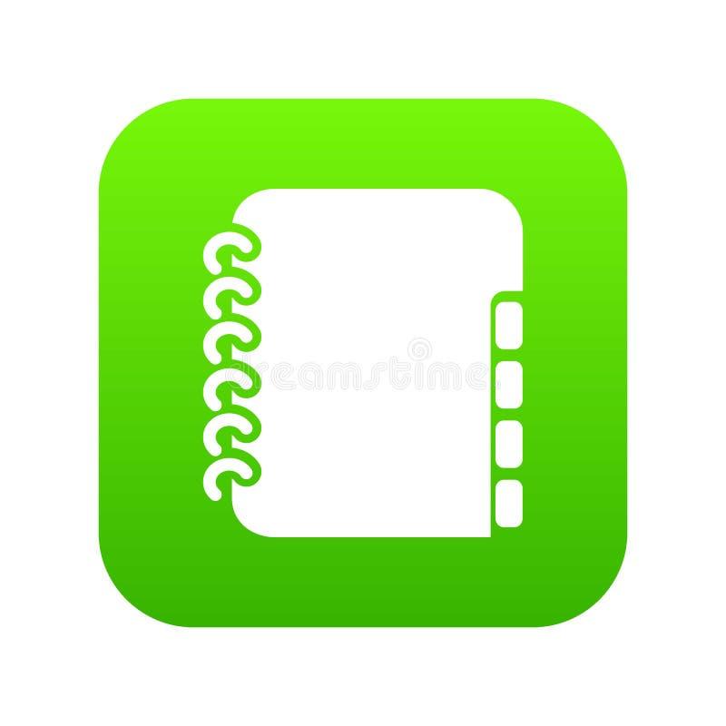 Vetor do verde do ícone do livro de telefone do caderno ilustração royalty free
