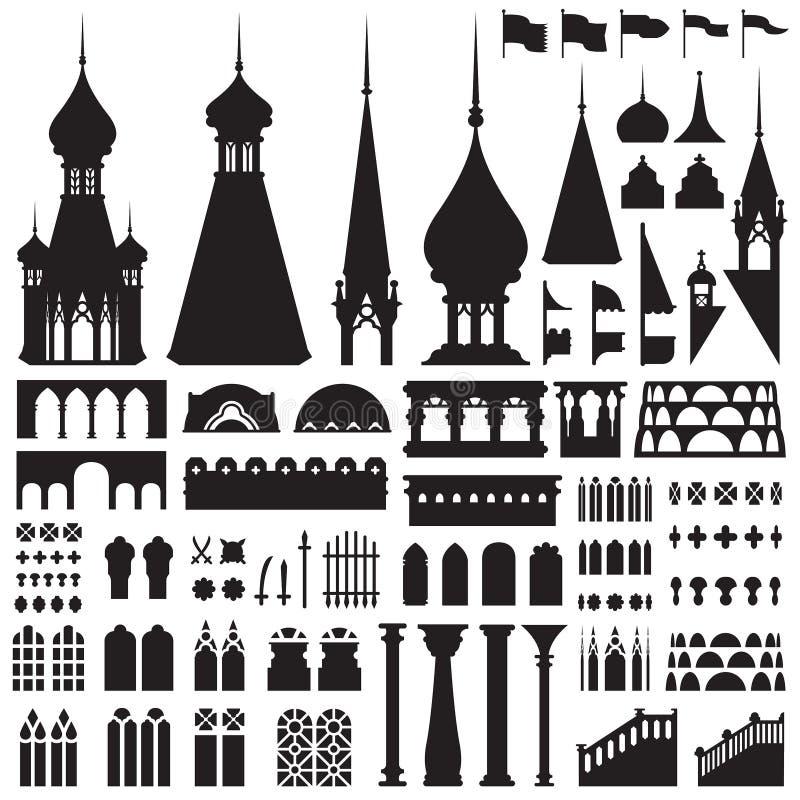Vetor do vintage do castelo imagem de stock
