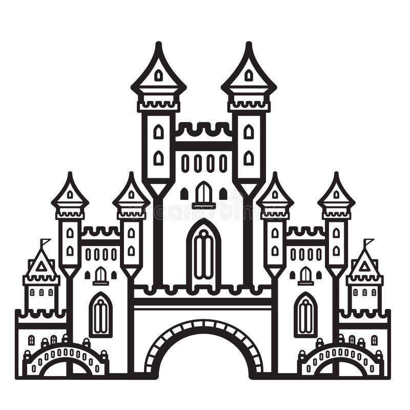 Vetor do vintage do castelo foto de stock