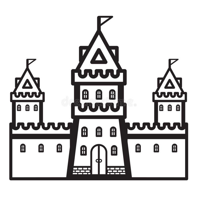 Vetor do vintage do castelo fotos de stock royalty free