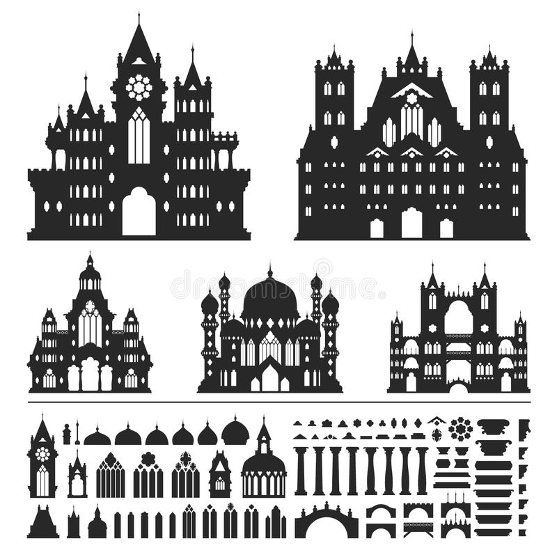 Vetor do vintage do castelo imagem de stock royalty free