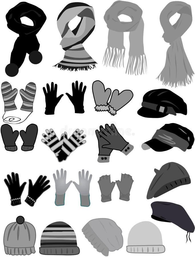 Vetor do wardrobe-ícone do inverno ilustração royalty free