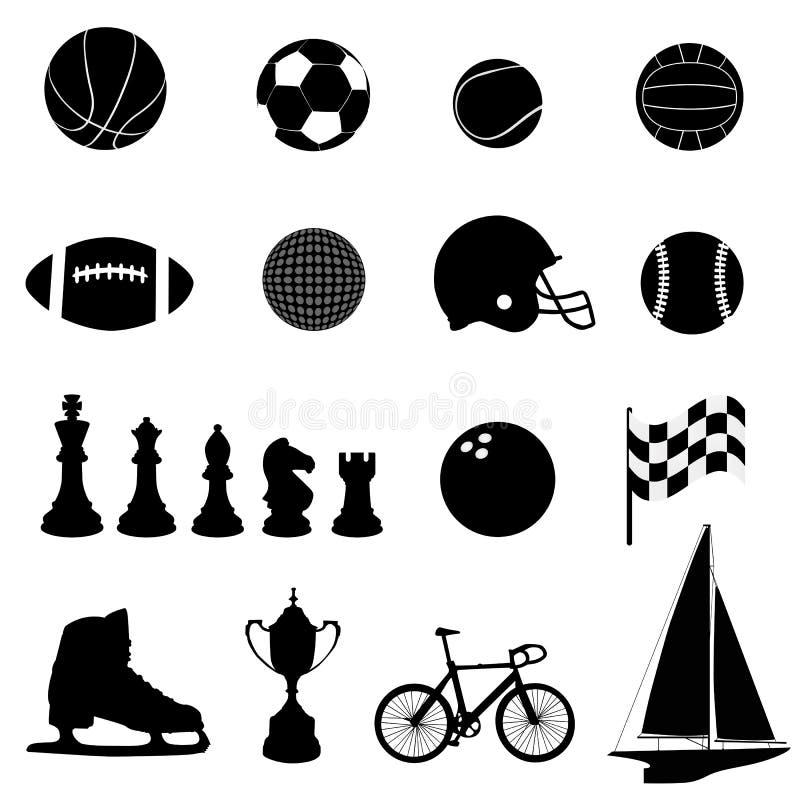 Vetor dos ícones do esporte ilustração stock