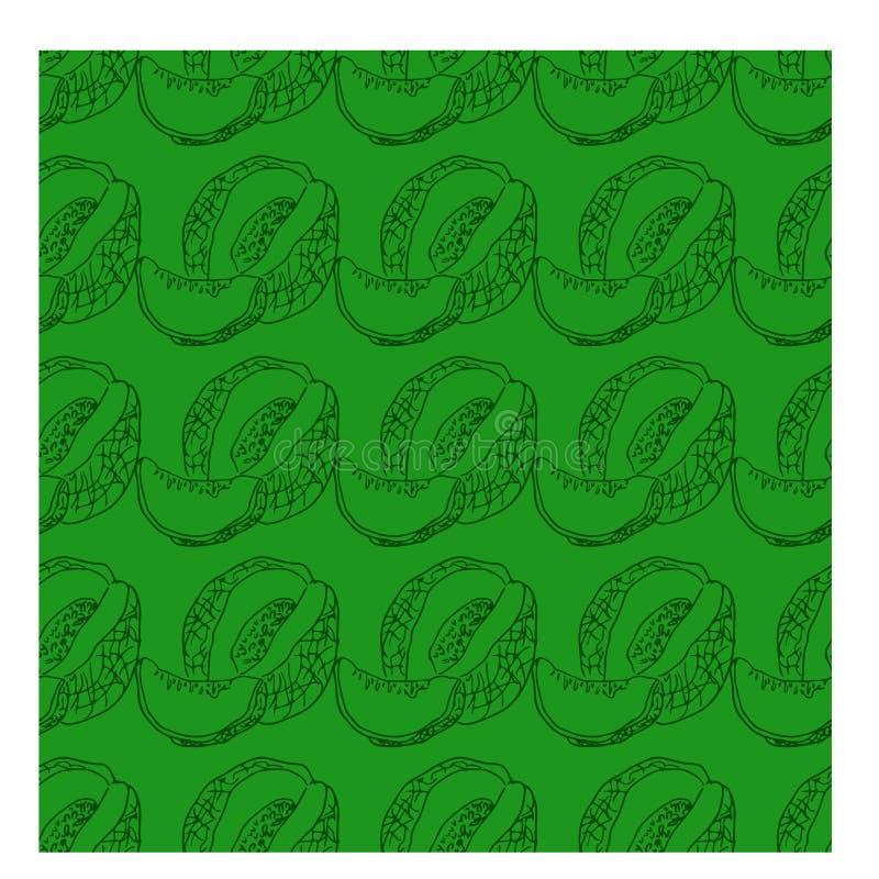 Vetor dos ícones do melão com linha estilo ilustração royalty free